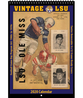 2020 Vintage LSU Tigers Football Calendar