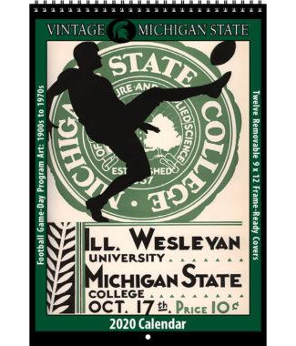 2020 Vintage Michigan State Spartans Football Calendar