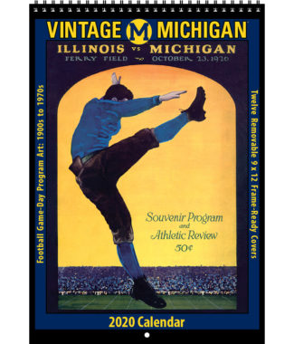 2020 Vintage Michigan Wolverines Football Calendar