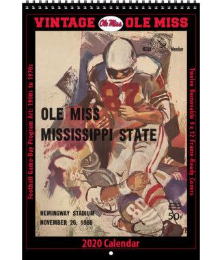 2020 Vintage Ole Miss Rebels Football Calendar