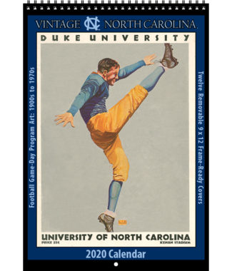 2020 Vintage North Carolina Tar Heels Football Calendar