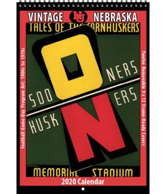 2020 Vintage Nebraska Cornhuskers Football Calendar