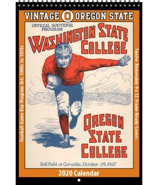 2020 Vintage Oregon State Beavers Football Calendar