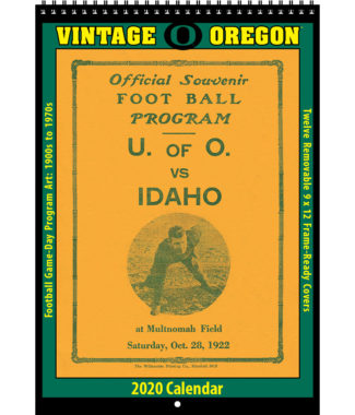 2020 Vintage Oregon Ducks Football Calendar