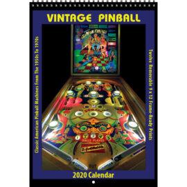 2020 Vintage Pinball Calendar