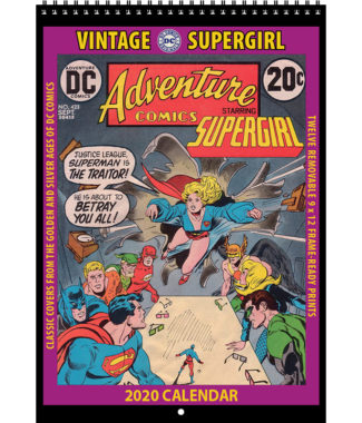 2020 Vintage Supergirl Calendar