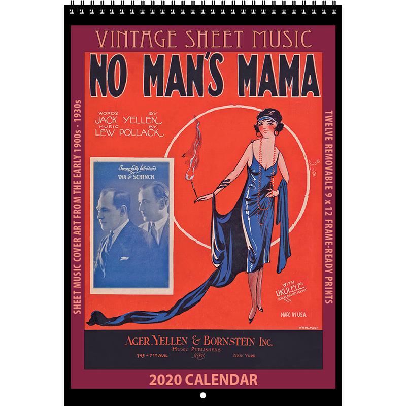 2020 Vintage Sheet Music Calendar