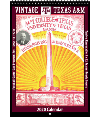 2020 Vintage Texas A&M Aggies Football Calendar