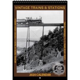 2020 Vintage Trains and Stations Calendar