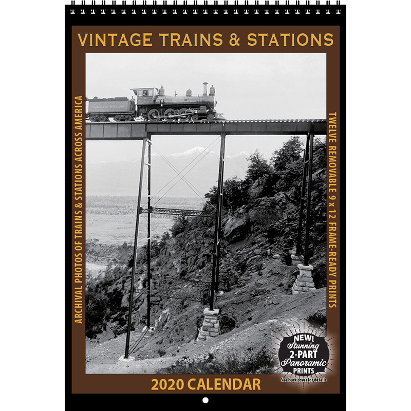 2020 Vintage Trains and Stations Calendar
