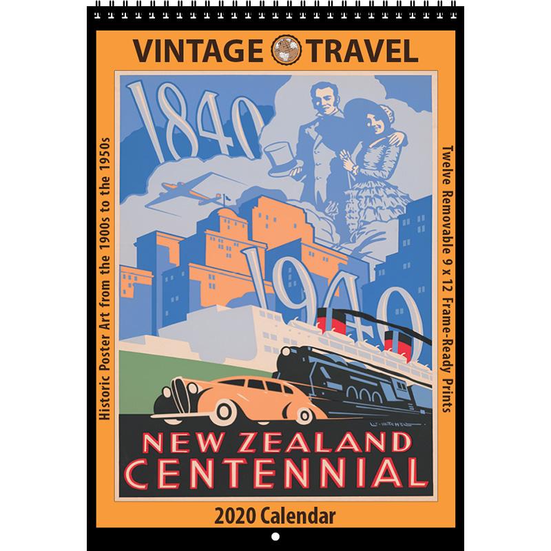 2020 Vintage Travel Calendar