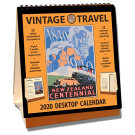 2020 Vintage Travel Desktop Calendar