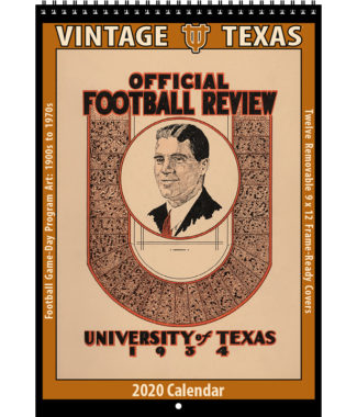 2020 Vintage Texas Longhorns Football Calendar