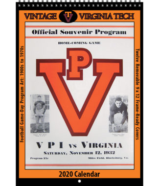 2020 Vintage Virginia Tech Hokies Football Calendar