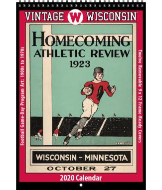 2020 Vintage Wisconsin Badgers Football Calendar