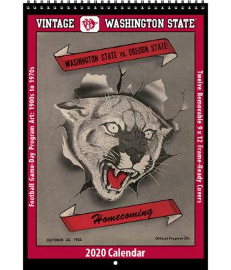 2020 Vintage Washington State Cougars Football Calendar