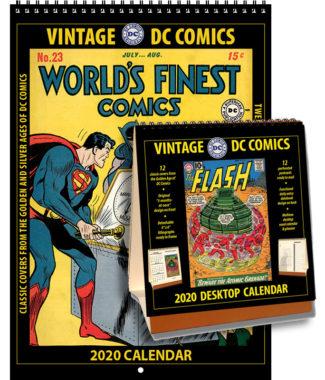 2020 Vintage DC Comics Calendar & 2020 Vintage DC Comics Desktop Calendar Combo