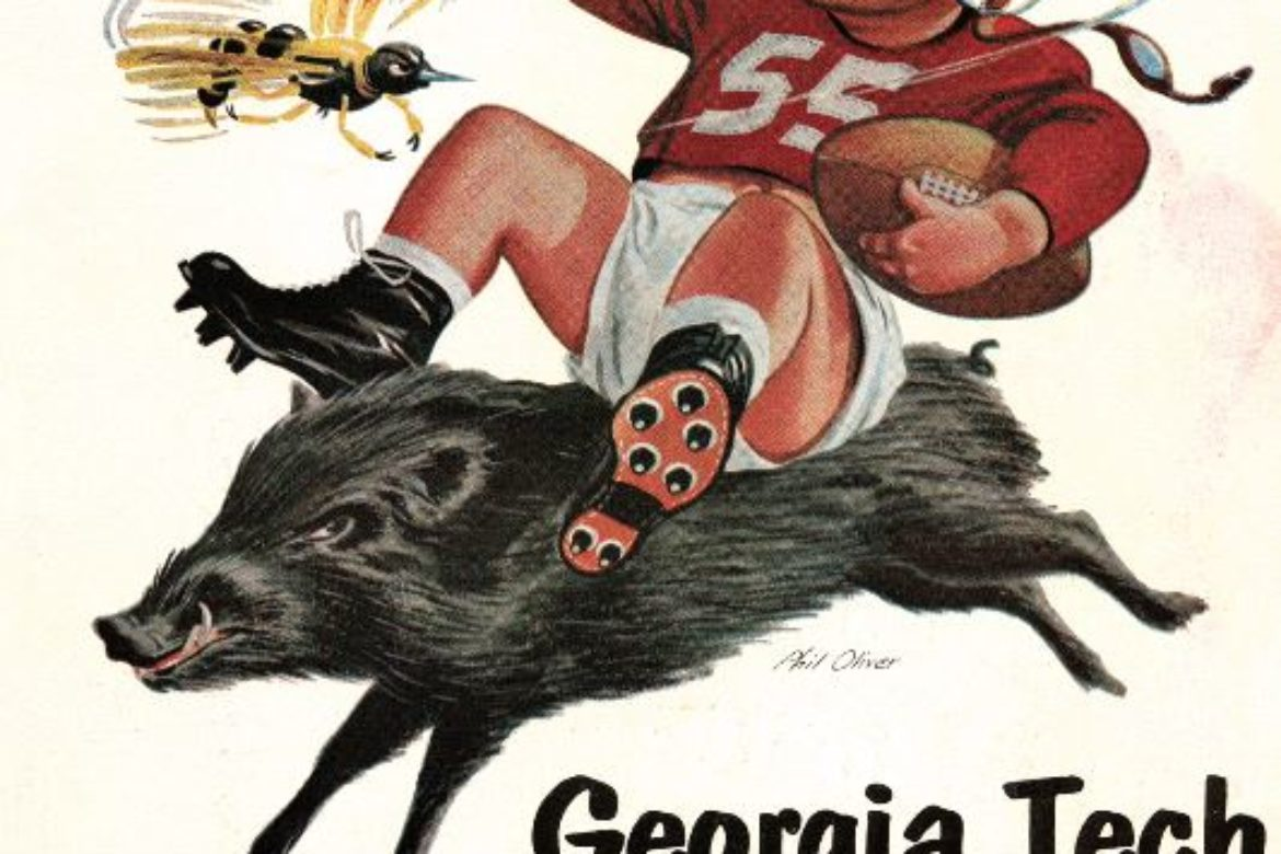 College Football Break!  Read More to Check out some awesome vintage game-day football program covers….