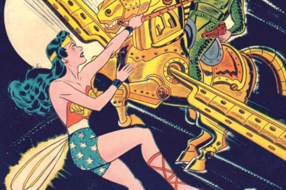 "Wonder Woman stars in ""BATTLE for the ATOM WORLD!  Learn more…."