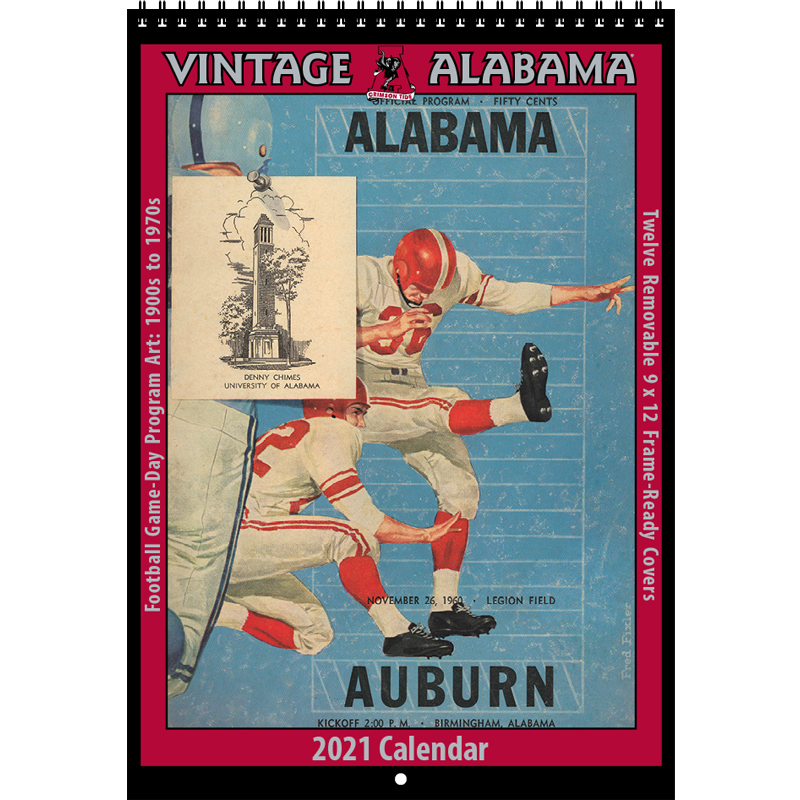 2021 Vintage Alabama Crimson Tide Football Calendar