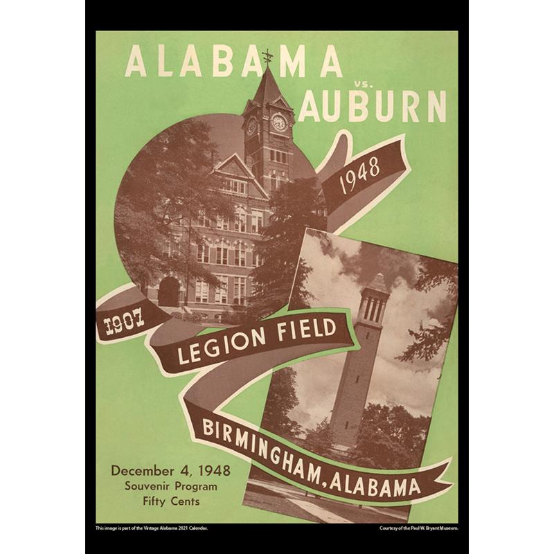 2021 Vintage Alabama Crimson Tide Football Calendar
