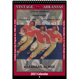 2021 Vintage Arkansas Razorbacks Football Calendar