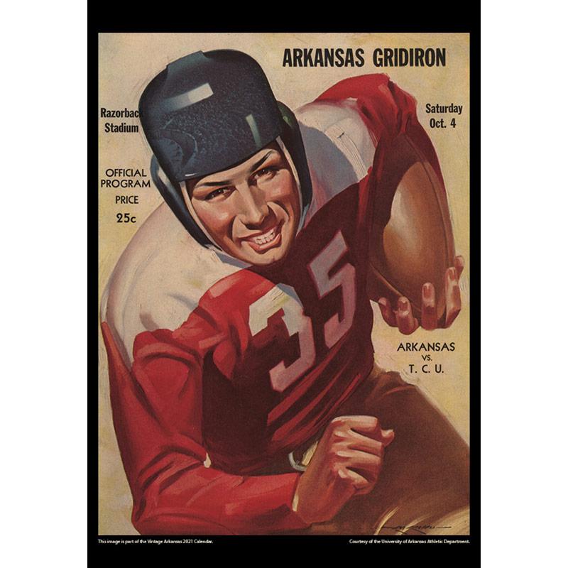 2021 Vintage Arkansas Razorbacks Football Calendar   Asgard Press