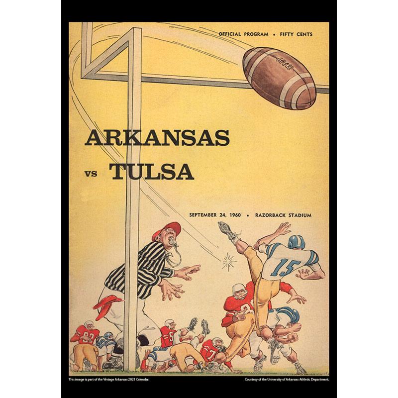 2021 Vintage Arkansas Razorbacks Football Calendar