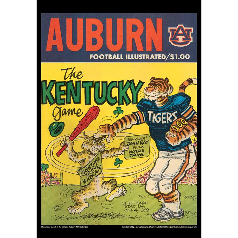 2021 Vintage Auburn Tigers Football Calendar