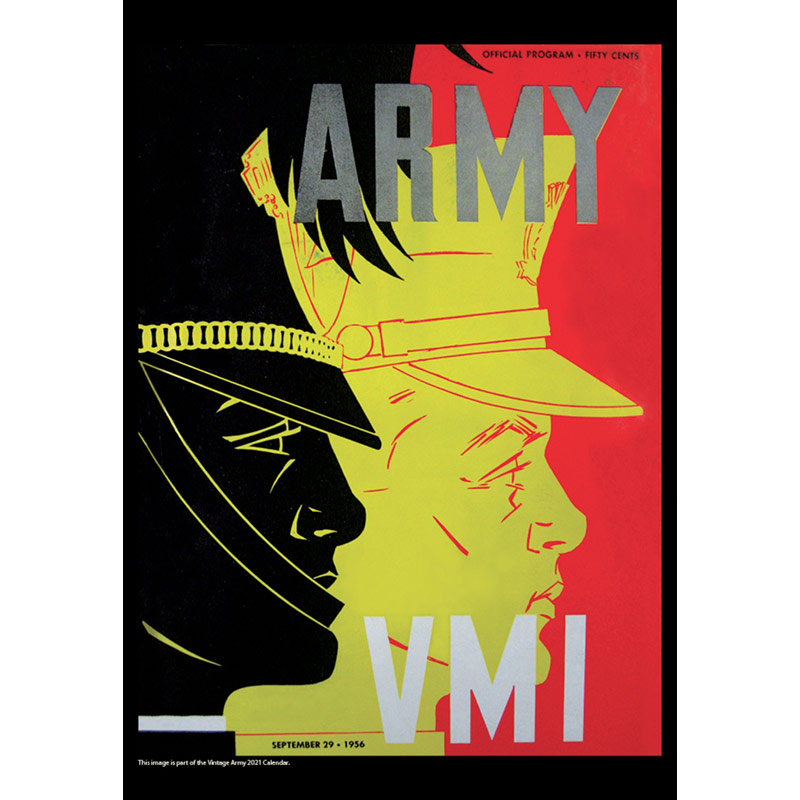 2021 Vintage Army Black Knights Football Calendar