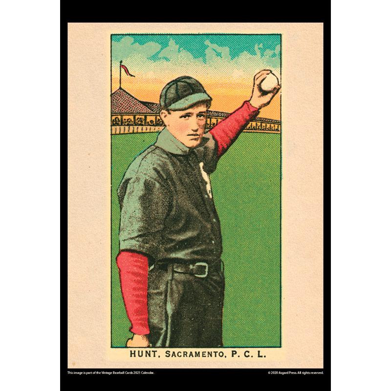 2021 Vintage Baseball Cards Calendar