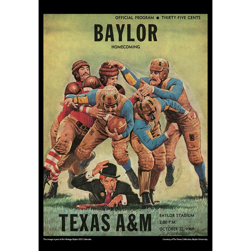 2021 Vintage Baylor Bears Football Calendar