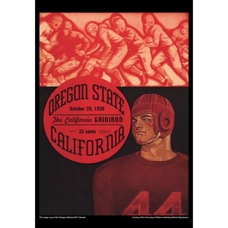 2021 Vintage California Golden Bears Football Calendar