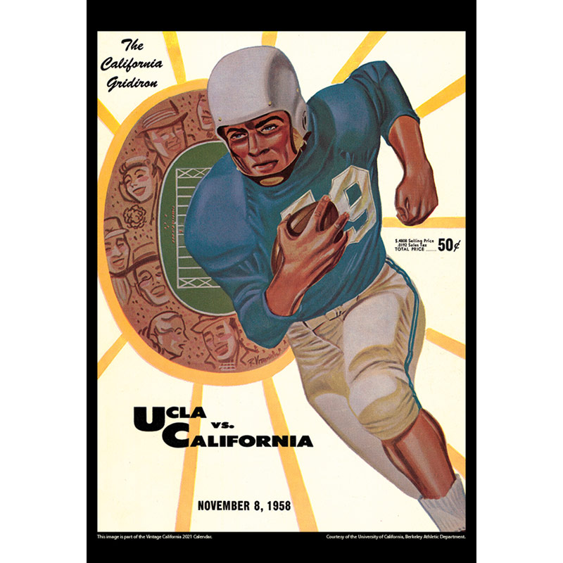 2021 Vintage California Golden Bears Football Calendar