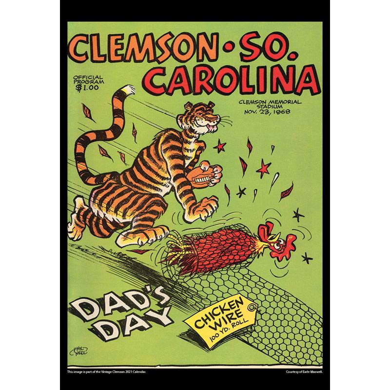 2021 Vintage Clemson Tigers Football Calendar