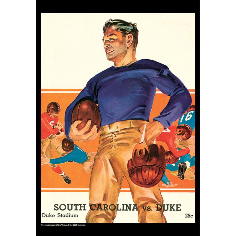 2021 Vintage Duke Blue Devils Football Calendar