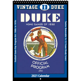 2021 Vintage Duke Blue Devils Football Calendar