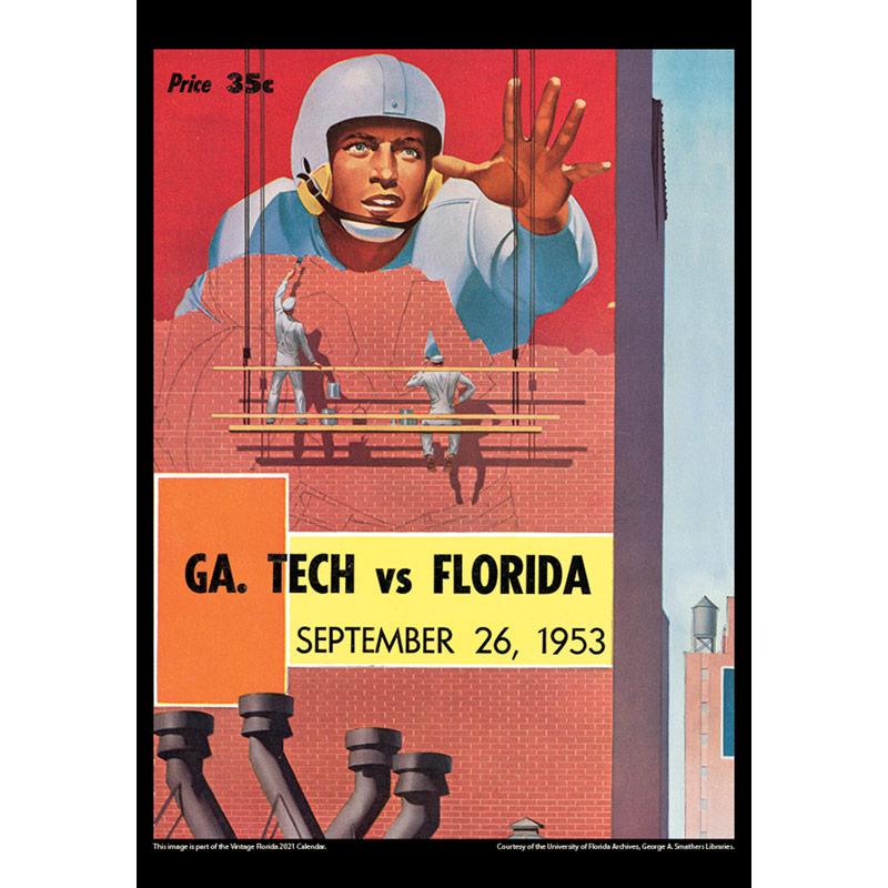 2021 Vintage Florida Gators Football Calendar