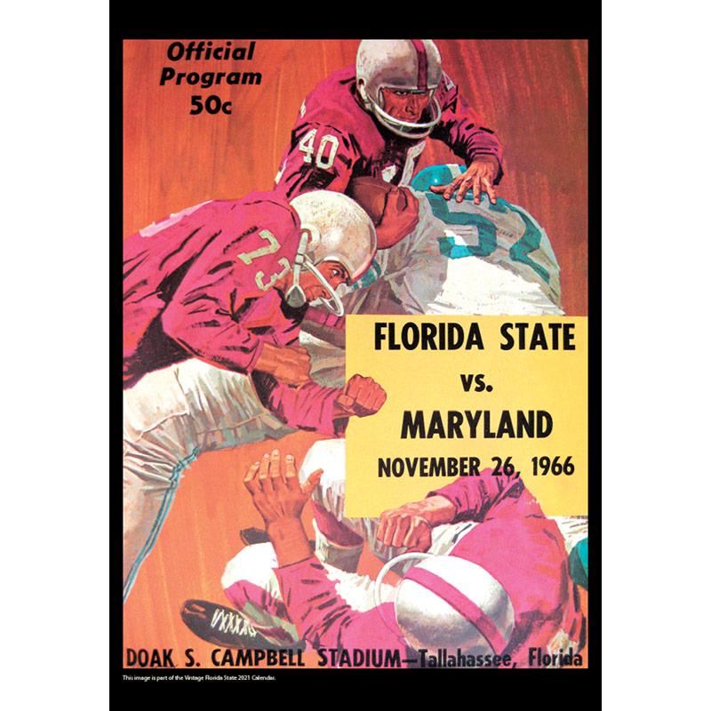 2021 Vintage Florida State Seminoles Football Calendar