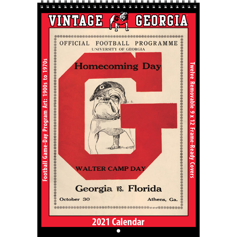 2021 Vintage Georgia Bulldogs Football Calendar