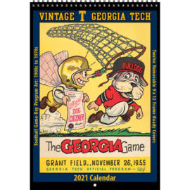 2021 Vintage Georgia Tech Yellow Jackets Football Calendar