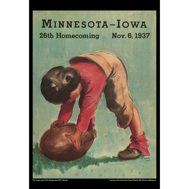 2021 Vintage Iowa Hawkeyes Football Calendar