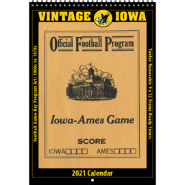 2021 Vintage Iowa Hawkeyes Football Calendar