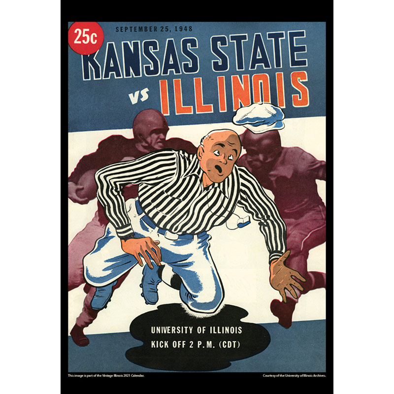 2021 Vintage Illinois Fighting Illini Football Calendar