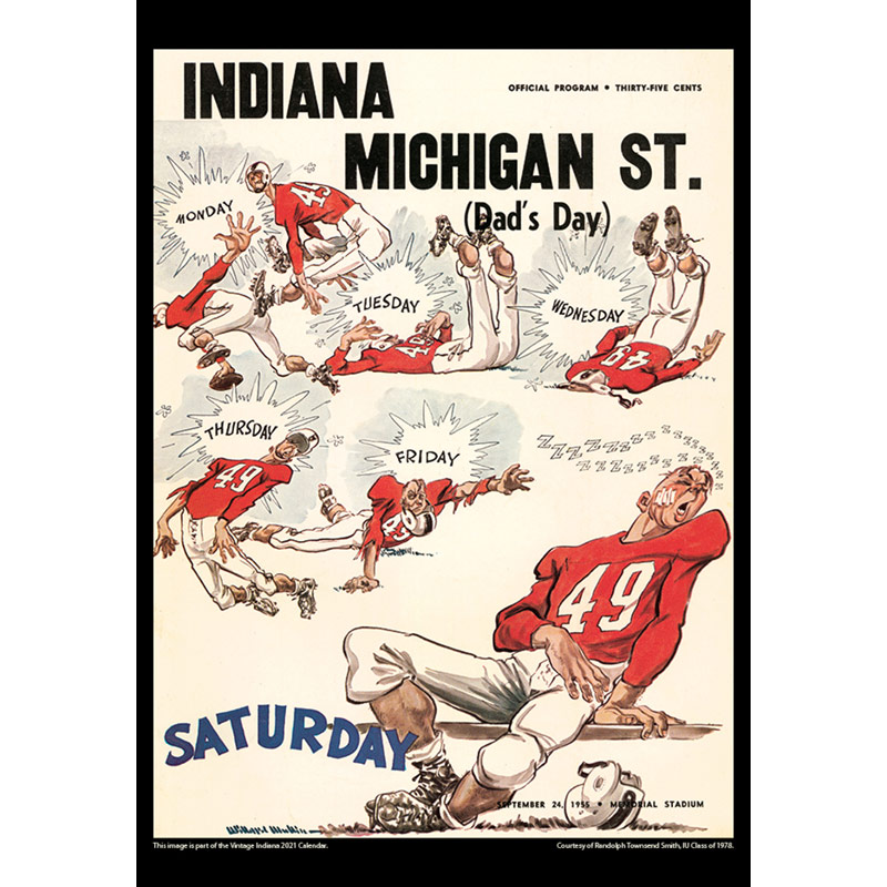 2021 Vintage Indiana Hoosiers Football Calendar