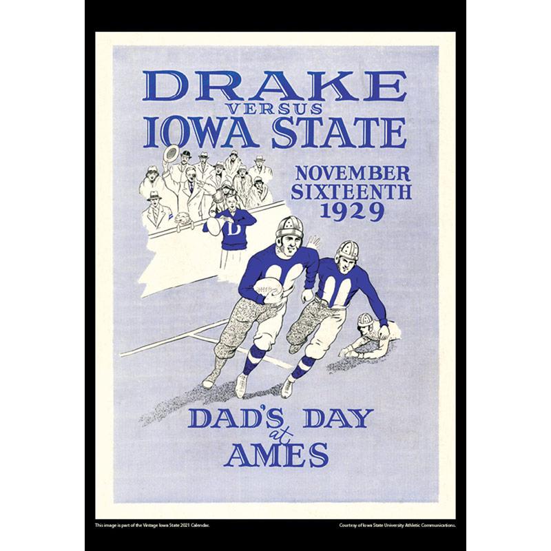 2021 Vintage Iowa State Cyclones Football Calendar