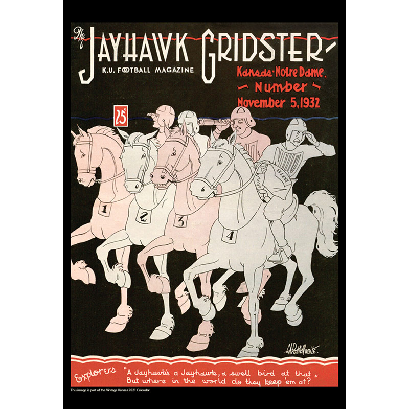 2021 Vintage Kansas Jayhawks Football Calendar