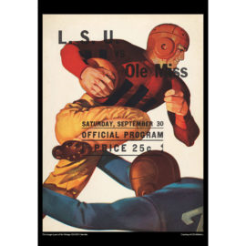 2021 Vintage LSU Tigers Football Calendar