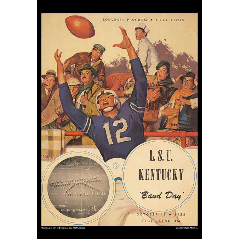 2021 Vintage LSU Tigers Football Calendar