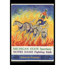 2021 Vintage Michigan State Spartans Football Calendar